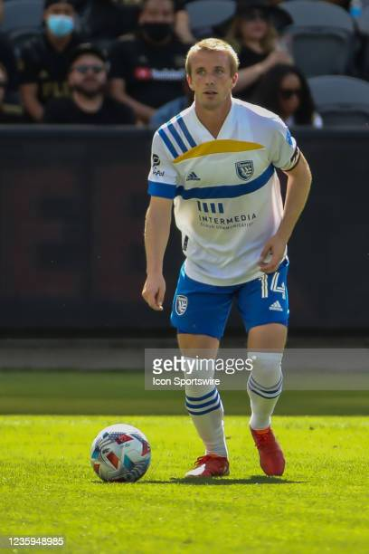 San Jose Earthquakes midfielder Jackson Yueill during the Los Angeles FC vs San Jose Earthquakes MLS game on October 16 at BANC of California Stadium...