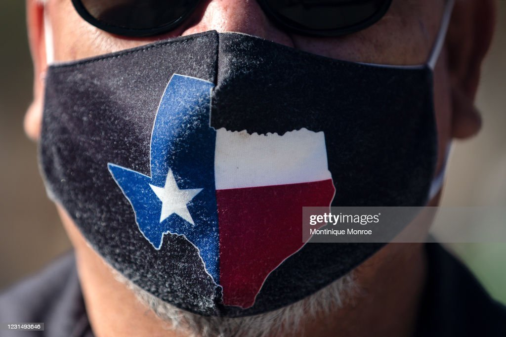 Texas Governor Abbott Lifts Statewide Mask Mandate : News Photo