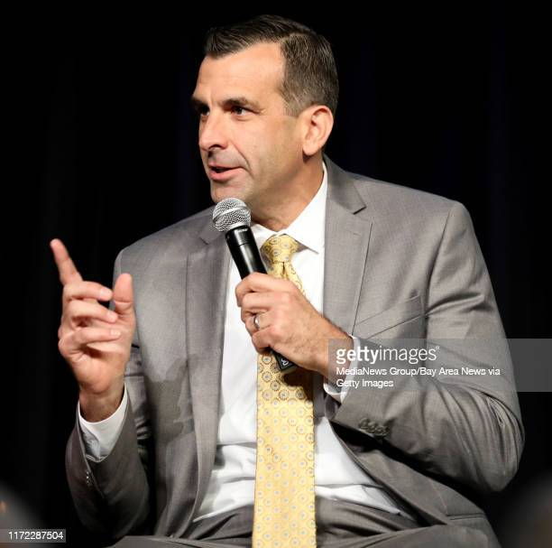 San Jose Mayor Sam Liccardo speaks during a panel discussion at the Silicon Valley Leadership Group annual luncheon at the Santa Clara Convention...