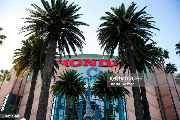 San Jose Sharks against the Anaheim Ducks in Game Two of the Western Conference First Round during the 2018 NHL Stanley Cup Playoffs at Honda Center...