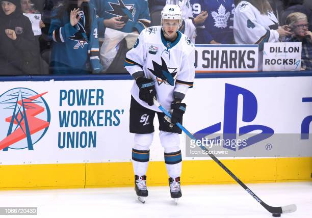 San Jose Sharks center Antti Suomela skates during the warm up before a game between the San Jose Sharks and the Toronto Maple Leafs at the...