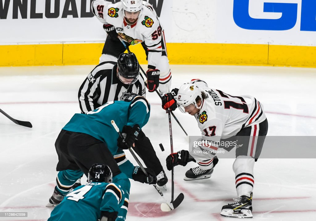 NHL: MAR 03 Blackhawks at Sharks : News Photo