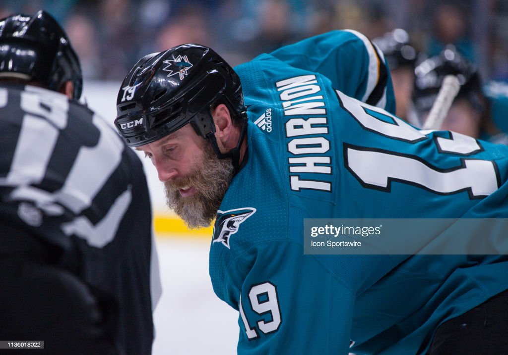 NHL: APR 12 Stanley Cup Playoffs First Round - Golden Knights at Sharks : News Photo
