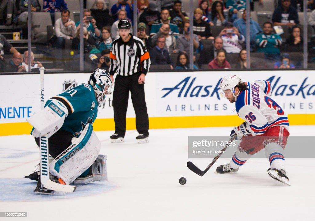 NHL: OCT 30 Rangers at Sharks : News Photo
