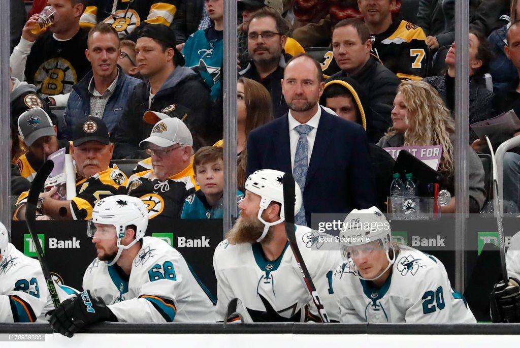 NHL: OCT 29 Sharks at Bruins : News Photo