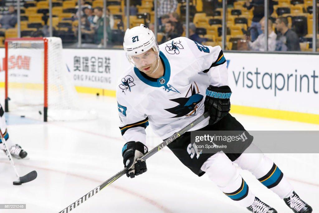 NHL: OCT 26 Sharks at Bruins : News Photo