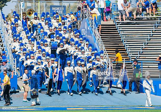 San Jose State Spartans band enters the field prior to the regular season game between the San Jose State Spartans verses the Portland State Vikings...