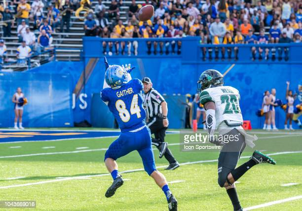 San Jose State Spartans wide receiver Bailey Gaither tracks a pass in the red zone during the game between the Hawaii Warriors and the San Jose State...