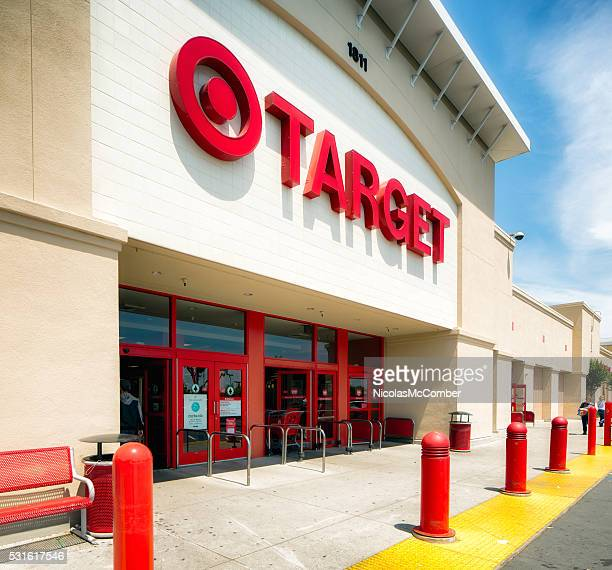 San Jose Target store entrance with sign oblique view
