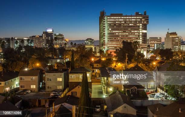 san jose twilight 2 - カリフォルニア州サンタクララ郡 ストックフォトと画像