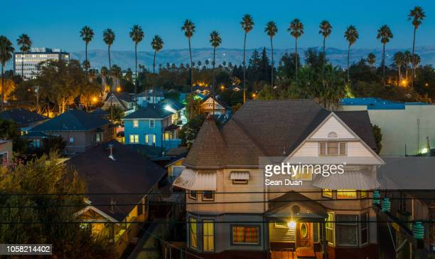 san jose twilight - california stockfoto's en -beelden