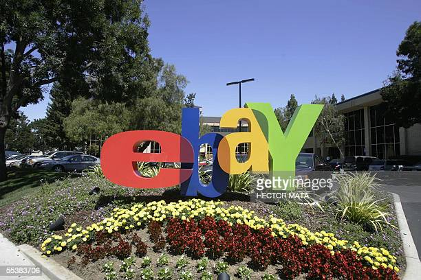 This 20 August 2005 file photo shows the entrance of eBay headquarters in San Jose California The online auction giant plans to buy Internet phone...