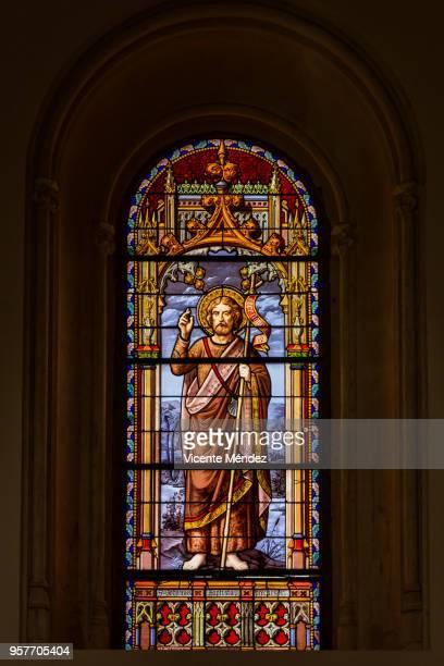 San Juan Bautista - Vidriera de la Iglesia de San Jerónimo el Real (Los Jerónimos)