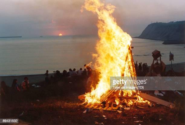 San Juan bonfire in Algorta Photo by Taller de Imagen /Cover/Getty Images