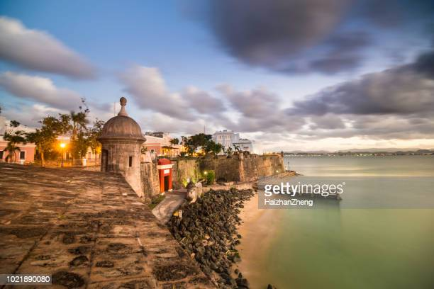 san juan cityscape - puerto rico stock pictures, royalty-free photos & images