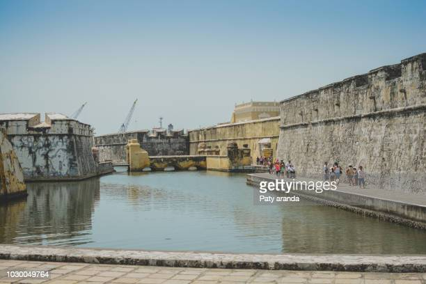san juan de ulúa fort on an island in the seaport of veracruz, mexico. - veracruz stock pictures, royalty-free photos & images