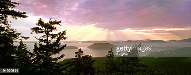 san juan island overlook - puget sound stock pictures, royalty-free photos & images
