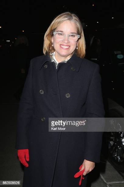 San Juan Mayor Carmen Yulin Cruz departs the Ed Sullivan Theater after her taping of 'The Late Show With Stephen Colbert' on November 29 2017 in New...