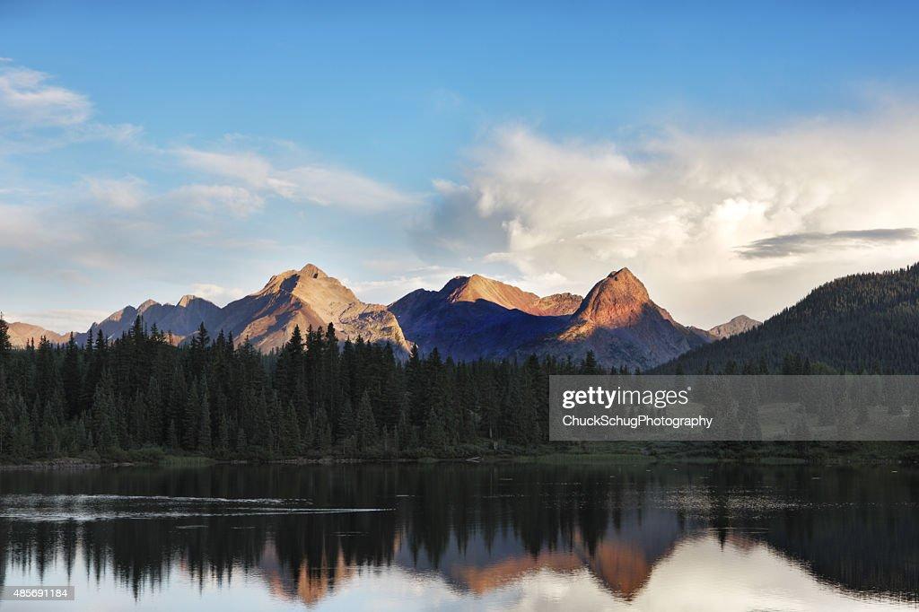 San Juan Mountain Molas Lake Reflection : Stock Photo