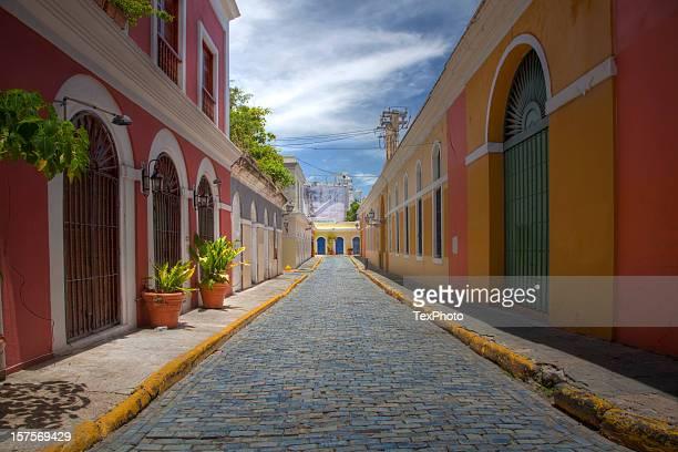 calle san juan - san juan puerto rico fotografías e imágenes de stock