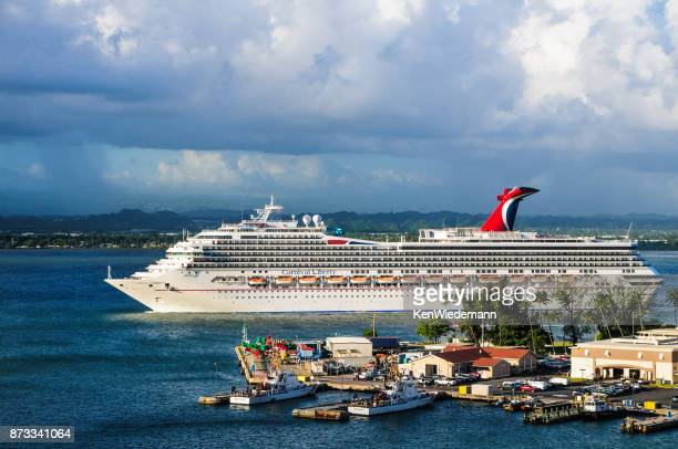 san juan visitor - carnival cruise stock pictures, royalty-free photos & images