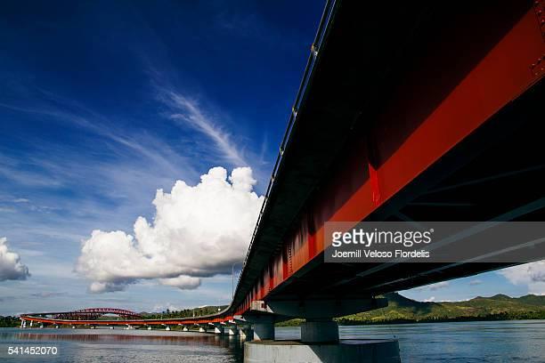 san juanico bridge - tacloban stock pictures, royalty-free photos & images