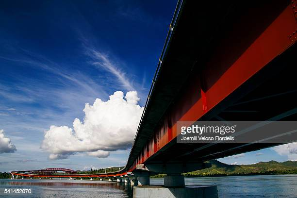 san juanico bridge - joemill flordelis stock pictures, royalty-free photos & images