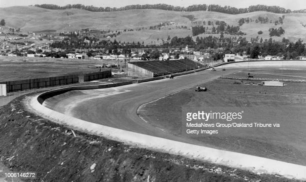 San Leandro CA June 28 1946 A completed Oakland Stadium before it's first race on the new track