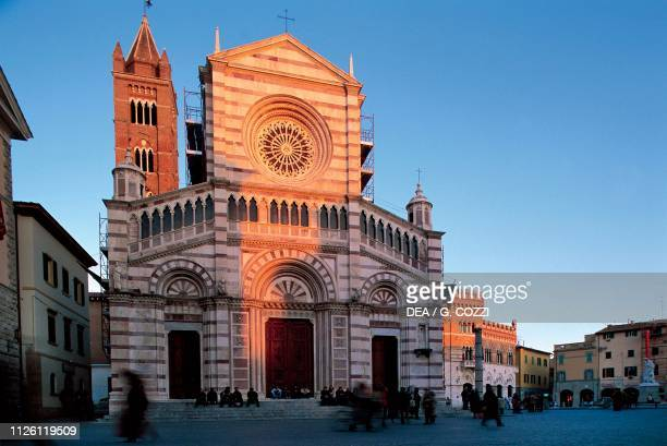 San Lorenzo Cathedral at sunset 12941302 Grosseto Tuscany Italy 13th14th century