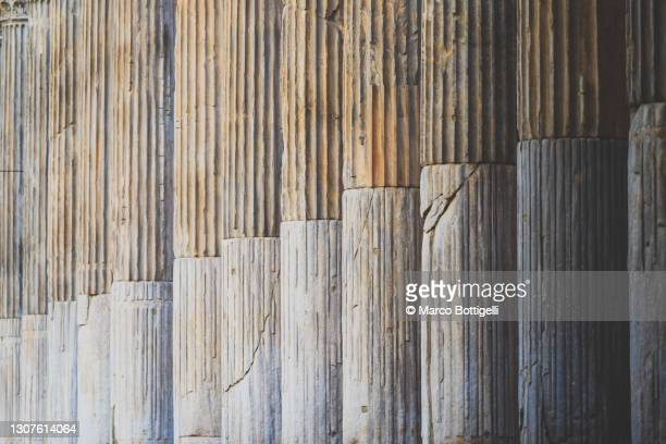san lorenzo colonnade, milan, italy - column stock pictures, royalty-free photos & images