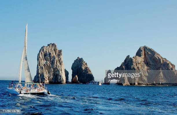 san lucas bay and finisterra tourist - cabo san lucas stock pictures, royalty-free photos & images