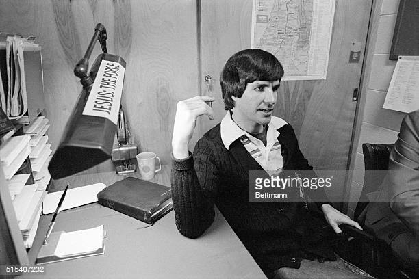 San Luis Obispo California Charles 'Tex' Watson convicted in the 1969 TateLaBianca murders is interviewed in his office behind the chapel at the...