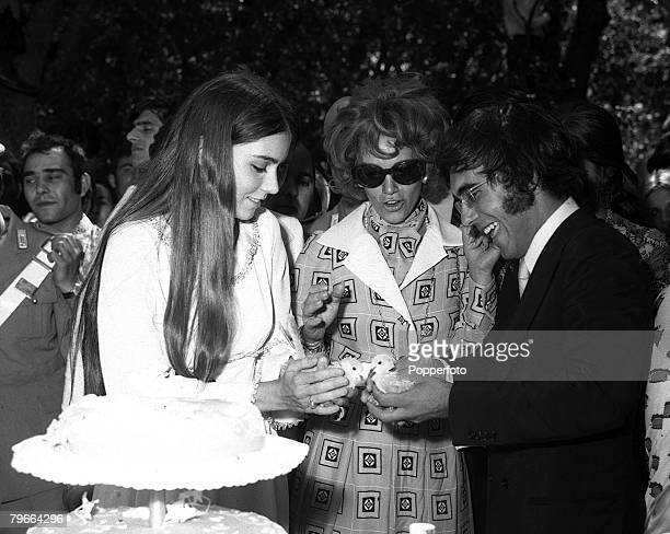 San Marco Italy 26th July 1970 Romina Power the daughter of American film actor Tyrone Power pictured during her marriage to Italian pop singer Al...