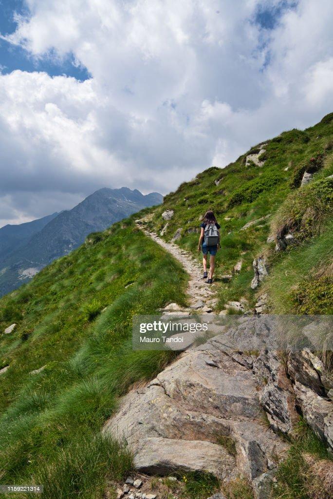 "San Marco Passage ""Passo San Marco"", Bergamo Province, Italy : Foto de stock"