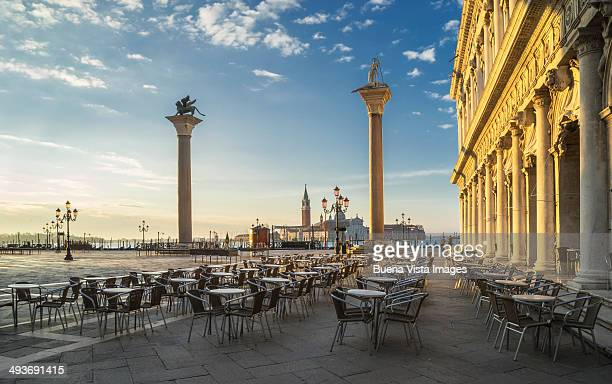 san marco square at sunrise - veneto stock pictures, royalty-free photos & images