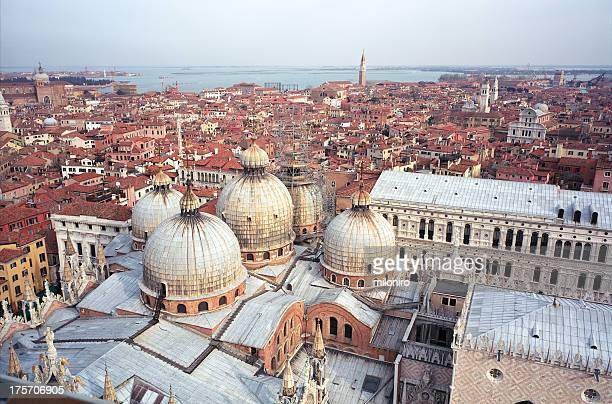 san marco, view from campanile - miloniro stock-fotos und bilder