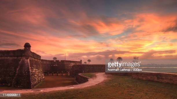 san marcos castle - st. augustine florida stock photos and pictures