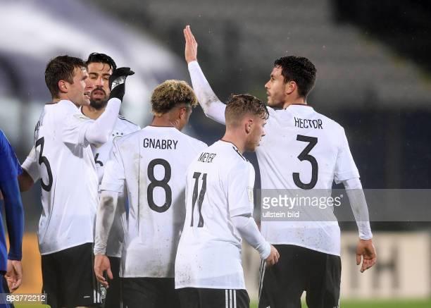 FUSSBALL INTERNATIONAL San Marino Deutschland Deutschland Thomas Mueller Sami Khedira Serge Gnabry Max Meyer und Jonas Hector