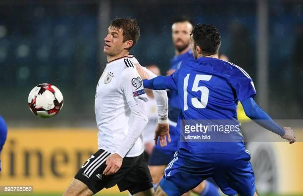 FUSSBALL INTERNATIONAL San Marino Deutschland Thomas Mueller gegen Marco Berardi