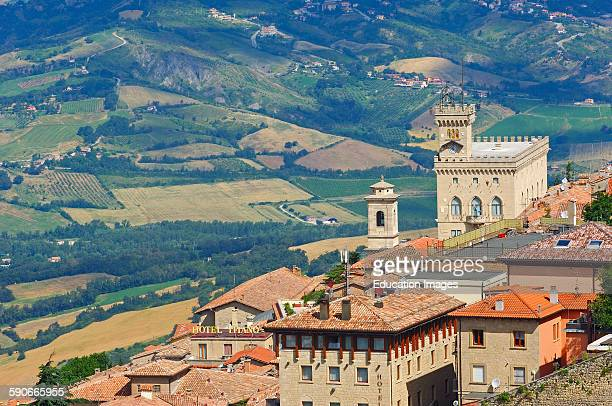 San Marino Palazzo Pubblico Monte Titano Republic of San Marino Italy Europe