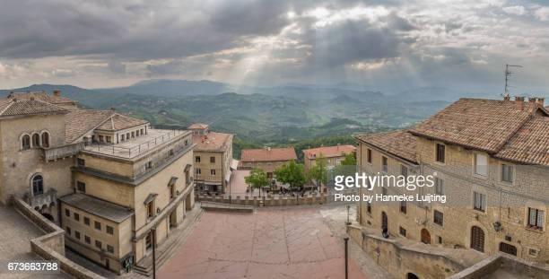 san marino panorama - republic of san marino stock pictures, royalty-free photos & images
