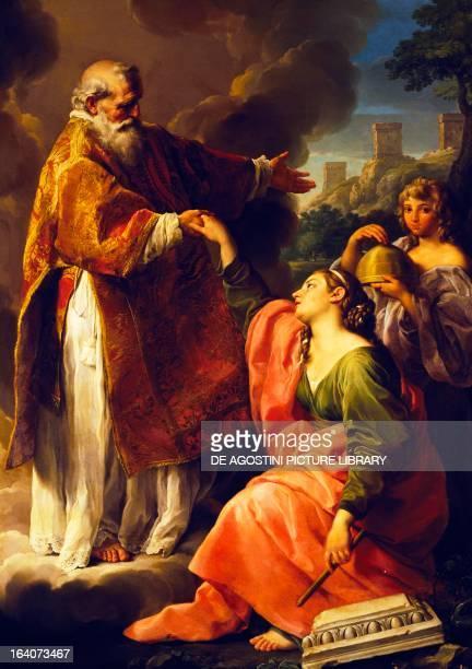 San Marino raises the Republic by Pompeo Batoni painting San Marino Museo Pinacoteca San Francesco