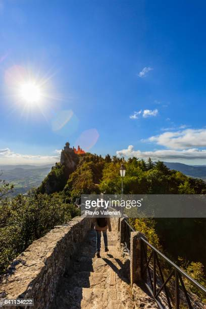 san marino, rocca cesta - second tower - republic of san marino stock photos and pictures