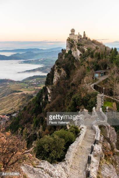san marino, rocca cesta - second tower - republic of san marino stock pictures, royalty-free photos & images
