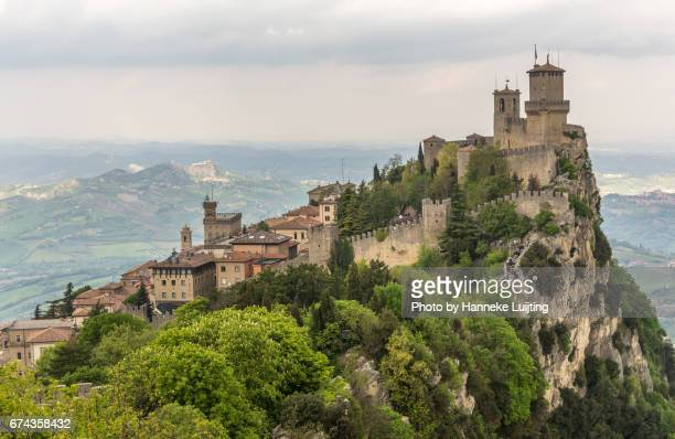 san marino views - siena italy stock photos and pictures