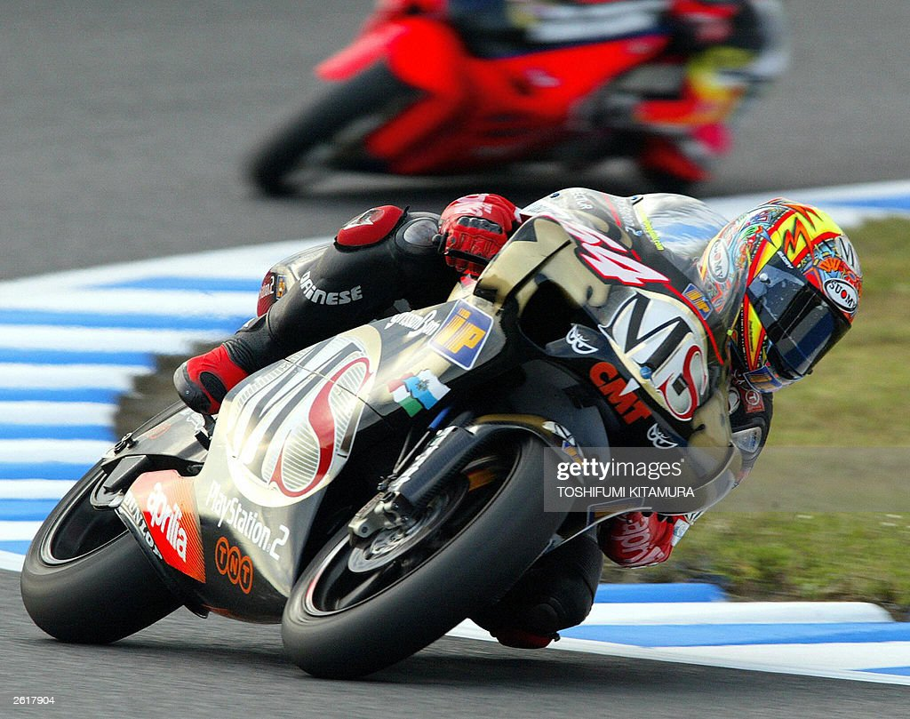 San Marinos Grand Prix Rider Manuel Pog Pictures Getty Images Ringcircuit Poggiali Drives His Aprilia During The 250cc Class Qualifying Session