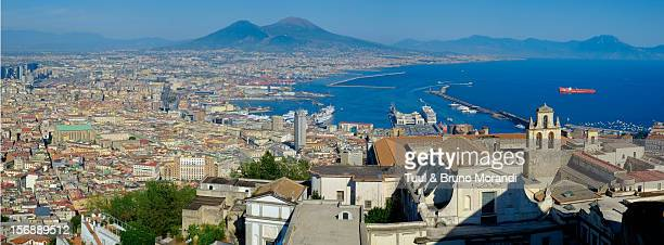 San Martino, harbour and Mt Vesuvius, Naples