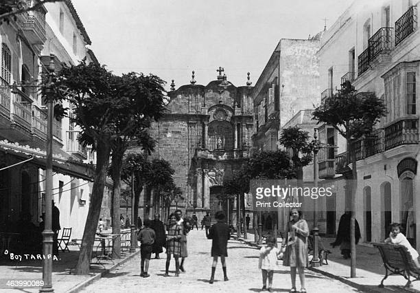 San Mateo Church Tarifa Andalusia Spain c1920sc1930s The Church of San Mateo was built in the 16th century The facade was remodelled by Torcuato...