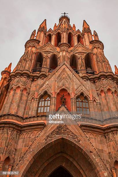 san michael archangel church, guanajuato - guanajuato stock pictures, royalty-free photos & images
