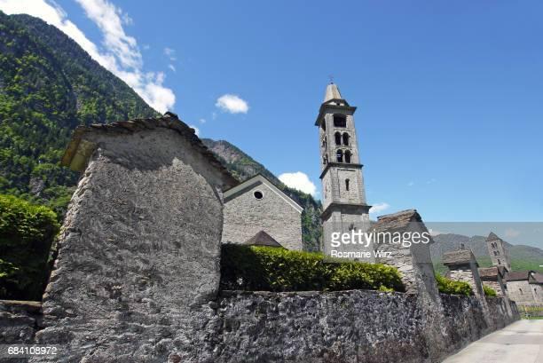San Michele and San Nicolao churches in Giornico, Switzerland